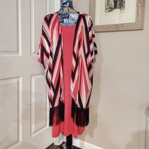 NY Collection Coral Dress with Jacket